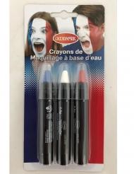 3 matite per trucco tricolore francese