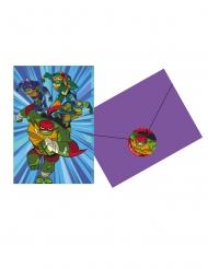 8 Inviti con busta Il Destino delle Tartarughe Ninja