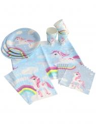 Kit di decorazioni unicorno magico blu