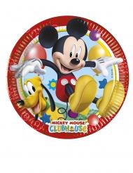 8 piattini di cartone Mickey Mouse™ 20 cm