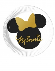 8 piattini in cartone Minnie Gold™ 20 cm