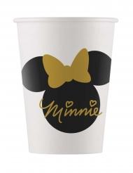 8 bicchieri in cartone Minnie Gold™