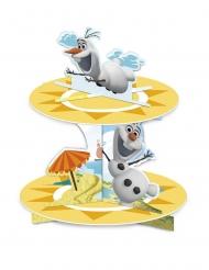 Alzata per cupcakes in cartone Olaf™ al mare