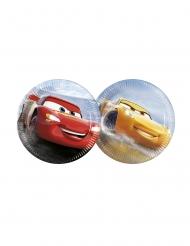 8 piattini in cartone con macchine Cars 3™ 20 cm