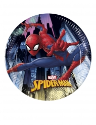 8 piattini in cartone Spiderman™ 20 cm