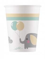 8 bicchieri in cartone elefantino