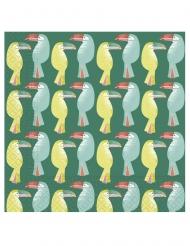 20 tovaglioli di carta tucano tropicale