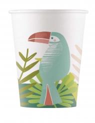 8 bicchieri in cartone tucano tropicale