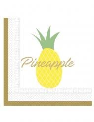 20 tovaglioli di carta ananas gialla