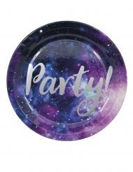 8 piatti in cartone galassia party 23 cm