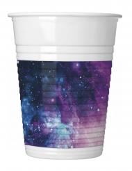 8 bicchieri in plastica galassia party