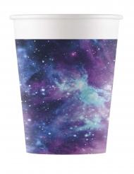 8 bicchieri in cartone galassia party