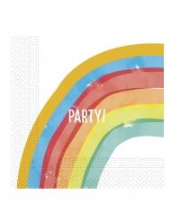 20 tovaglioli di carta rainbow party