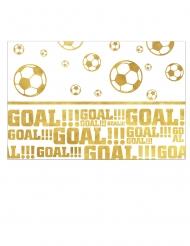 Tovaglia in plastica pallone calcio oro