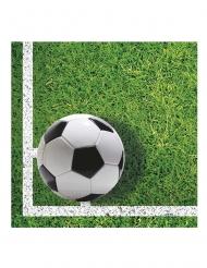 20 tovaglioli in carta palloni da calcio