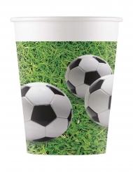 8 bicchieri in cartone pallonci calcio
