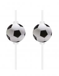 4 cannucce con pallone da calcio