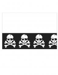 Tovaglia in plastica nera con teschi pirata
