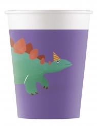 8 bicchieri biodegradabili dinosauro party