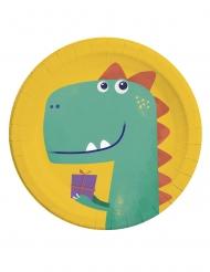 8 piatti in cartone dinosauro party 23 cm
