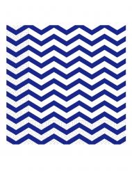 20 tovaglioli di carta zig zag blu