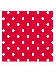20 tovaglioli di carta rossi a pois