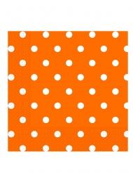 20 tovaglioli di carta arancioni a pois