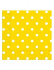 20 tovaglioli di carta gialli a pois