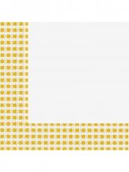 20 tovaglioli di carta a quadretti gialli e bianchi