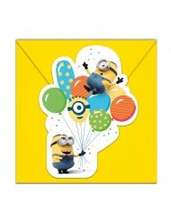 6 Inviti e buste Minions ballons party™
