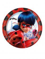8 piatti in cartone a tema Ladybug™ 23 cm