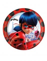 8 piattini in cartone a tema Ladybug™ 20 cm
