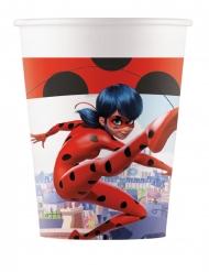 8 bicchieri in cartone a tema Ladybug™