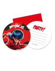 6 inviti per festa rotondi con buste Ladybug™