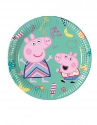 8 piattini di cartone a tema Peppa Pig™ 20 cm