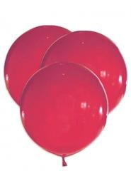 5 palloncini giganti in lattice rossi