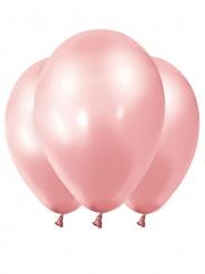 12 palloncini in lattice oro rosa metallizzato