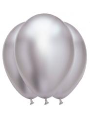 6 palloncini in lattice argento effetto satinato