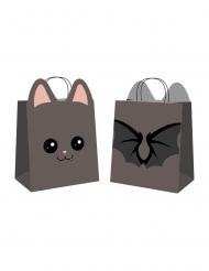 4 Buste per caccia alle caramelle dolce pipistrello halloween
