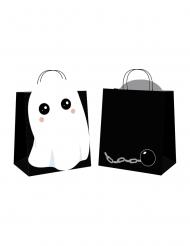 4 Buste per caccia alle caramelle dolce fantasma halloween