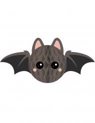Decorazione di carta alveolata pipistrello grigio