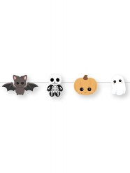 Ghirlanda in cartone piccoli mostri Halloween