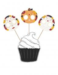 3 decorazioni per torta Dia de los muertos