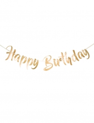 Ghirlanda Happy Birthday dorata lusso