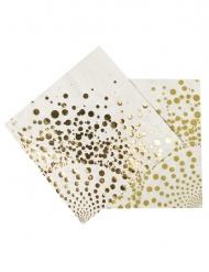 16 tovaglioli di carta dorati lusso