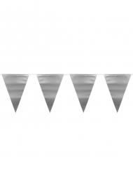 Ghirlanda con bandierine argento metallizzato