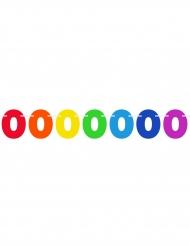 Ghirlanda di bandierine con numero multicolor