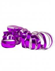 2 Rotoli di stelle filanti viola metallizzato 4m