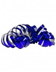2 Rotoli di stelle filanti blu metallizzato 4m