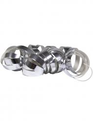2 Rotoli di stelle filanti argento metallizzato 4m